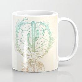 Desert Cactus Dreamcatcher Turquoise Coral Gradient Coffee Mug