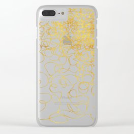 swirly gold gradient Clear iPhone Case