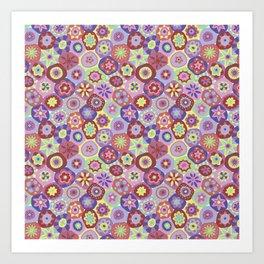 Millefiori-Coolio Colors Art Print