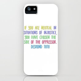 Neutrality iPhone Case