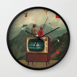 Mother Protect Me from the Sadness of this World Wall Clock