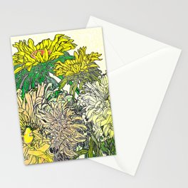With Flowers Stationery Cards