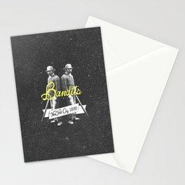 Vintage Western New York Bandits Black White Art Stationery Cards