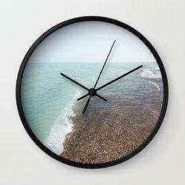 Turquoise Beach | Beach Photography | Landscape | Nature | Summer | Coastal | Waves | Ocean Wall Clock