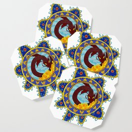 Red Dragon Emblem Coaster