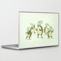 turtles Laptop & iPad Skins featuring Dancing Turtles by Sophie Corrigan