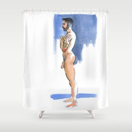 JUSTIN, Nude Male by Frank-Joseph Shower Curtain