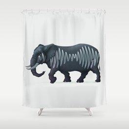 Elepham (Herd of Sheffield) Shower Curtain