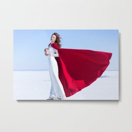 winter girl Metal Print