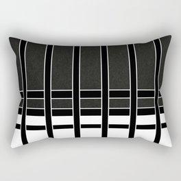 Modern Minimalist Black and White Stripes Rectangular Pillow