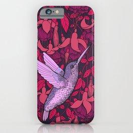 Hummingbird and fuchsia iPhone Case