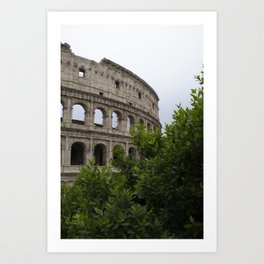 The Outside of the Coliseum Art Print