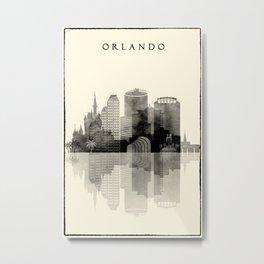 Orlando, Florida Graphics Cityscape Metal Print