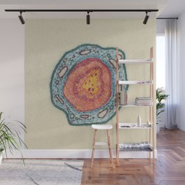 Growing - Pinus 2 - plant cell embroidery Wall Mural