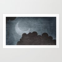 walk the moon Art Prints featuring Moon Walk by Robin Curtiss