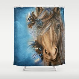Pretty Blue  Shower Curtain