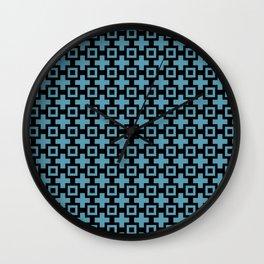 STUDIOUS light peacock blue and black design Wall Clock