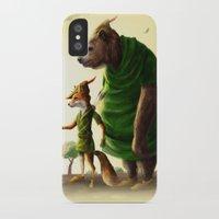 robin hood iPhone & iPod Cases featuring Robin Hood & Little John by Jehzbell Black