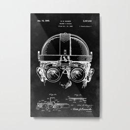 Welding Goggles Blueprint Metal Print
