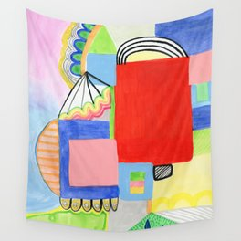 Primary Geo Summer Day Wall Tapestry