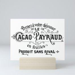 Cacao-Payraud Vintage Sign Mini Art Print