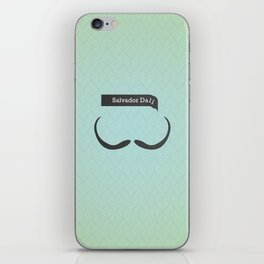 Salvador Dali (Famous mustaches and beards) iPhone Skin