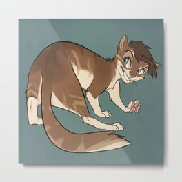Cat Lou Metal Print