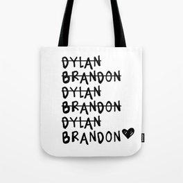 Brandon vs. Dylan: Beverly Hills 90210 Tote Bag