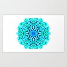 Green and blue inspiration Art Print