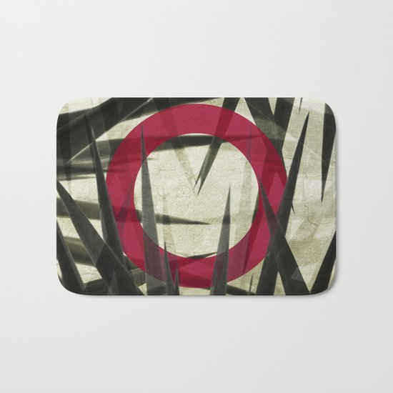 Yucca Leaves Abstract Bath Mat