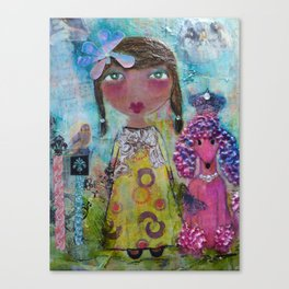 Phoebe & Poof - Whimsies of Light Children Series Canvas Print