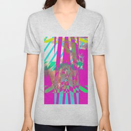 Clouds Mingle with Lines 3 Unisex V-Neck