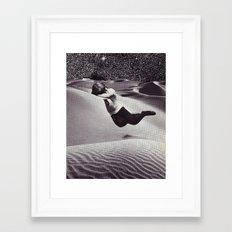 SNOOZE Framed Art Print