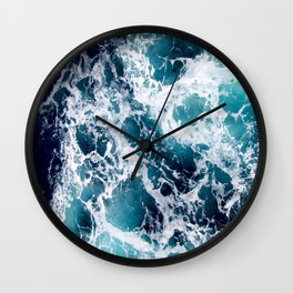 Ocean by Lika Ramati Wall Clock