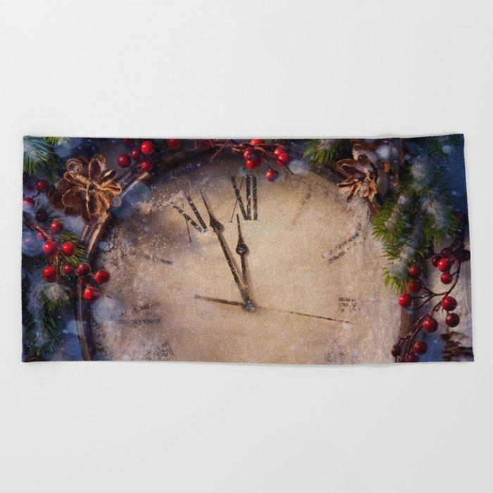 Frozen time winter wonderland Beach Towel
