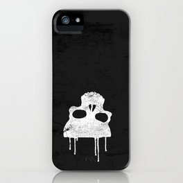 GRUNGE BACKGROUND WITH SKULL iPhone Case