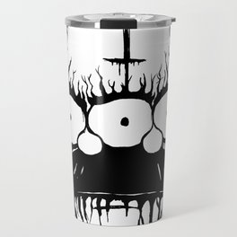 Black Metal Religious Guy Travel Mug