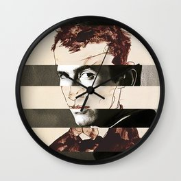 Egon Schiele's Self Portrait & Anthony Perkins Wall Clock
