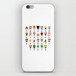 Video Games Pixel Alphabet iPhone Skin