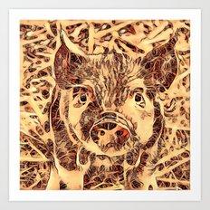 Animal ArtStudio -amazing piglet Art Print