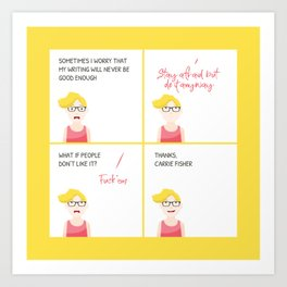Thanks, Carrie Art Print