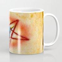 pentagram Mugs featuring NATIVE PENTAGRAM - 018 by Lazy Bones Studios