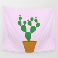 cacti Wall Tapestries featuring Cacti by Libbie Bischoff