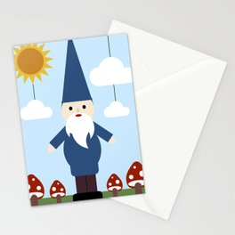 Garden Gnome Stationery Cards