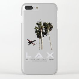 Los Angeles International Airport (LAX) Artwork Clear iPhone Case