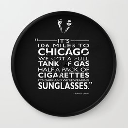 Its 106 Miles To Chicago Wall Clock