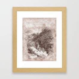 On the way to Rome Framed Art Print