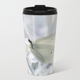 Butterfly White 80 Metal Travel Mug