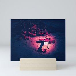 Brick Crucifix Mini Art Print