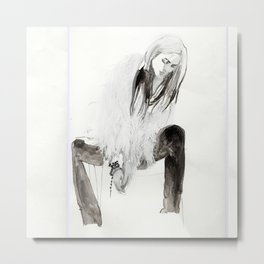 Alison Mosshart portrait Metal Print